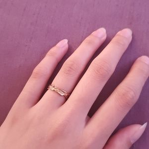 💝FREE with purchase💝 Leaf Design Midi Ring